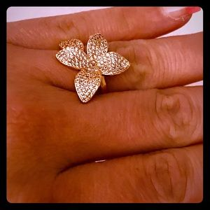 Micro Pave Flower Ring